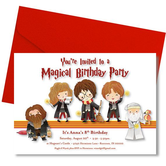 47 best Harry potter bday party images – Harry Potter Birthday Invitation