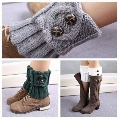 $3.37    Women Leg Warmer Knit Boot Socks Topper Cuff Boot