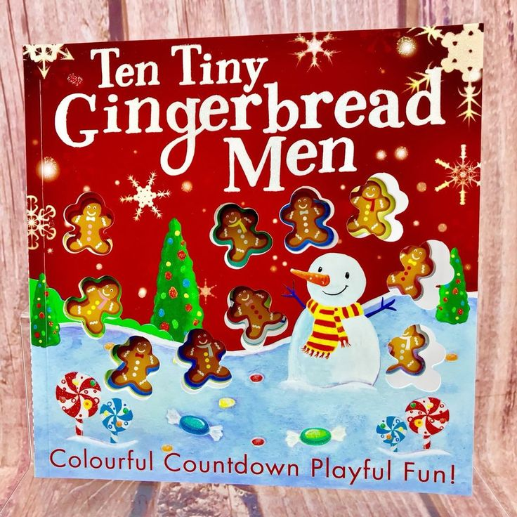 Childrens Christmas Book Ten Tiny Gingerbread Men colourful countdown fun kids