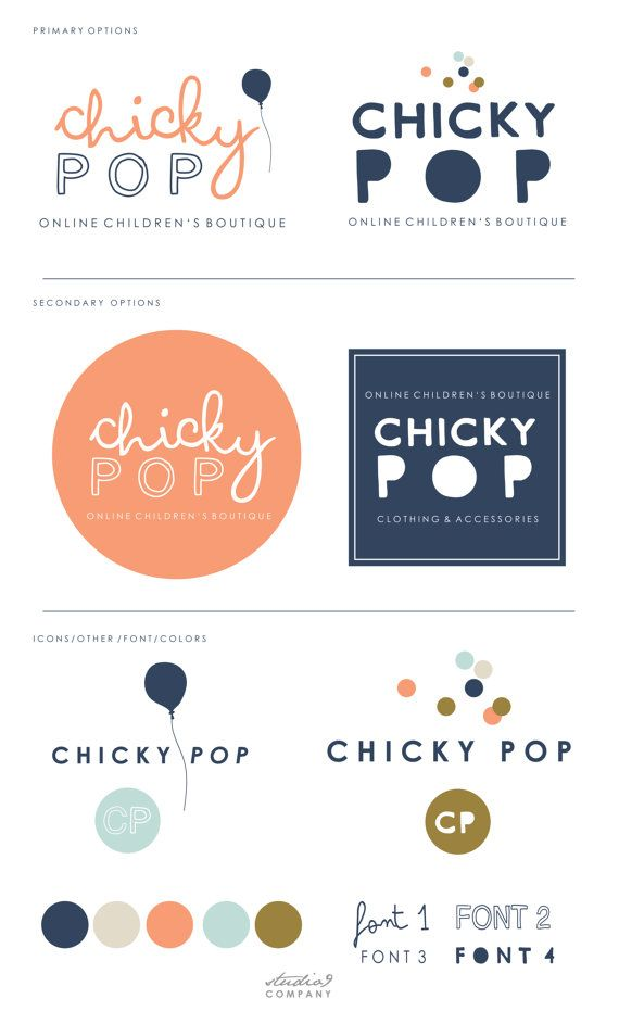 LOGO PACKAGE by Studio9Co on Etsy