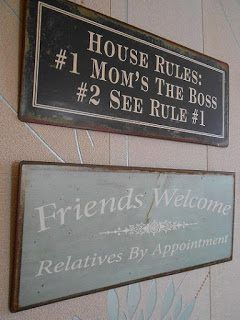 Plechová retro cedule Friends Welcome a House Rules http://www.Niels-Decor.cz