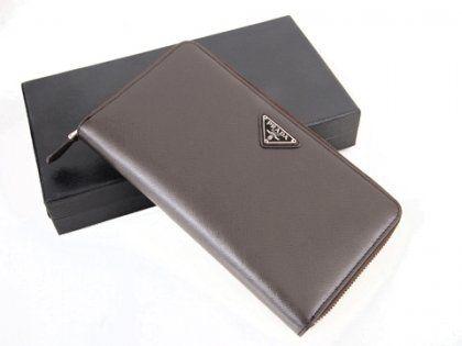 Cheap Prada 1M1188A Coffee Long Wallets For Sale | Prada Outlet Store