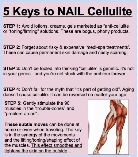 """The word """"cellulite"""" confuses many women and so does the problem itself. These 5 keys help clear up the confusion and lead to fixing the problem for good. Come take a look how."""