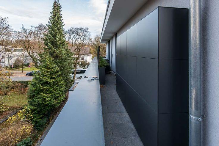 gartenschrank terrassenschrank auf dachterrasse in m nchen wetterfest by design garten. Black Bedroom Furniture Sets. Home Design Ideas