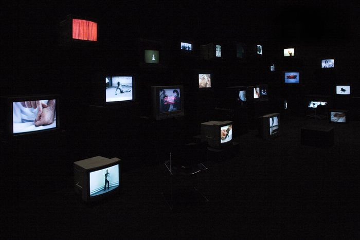 Video installation by Douglas Gordon.