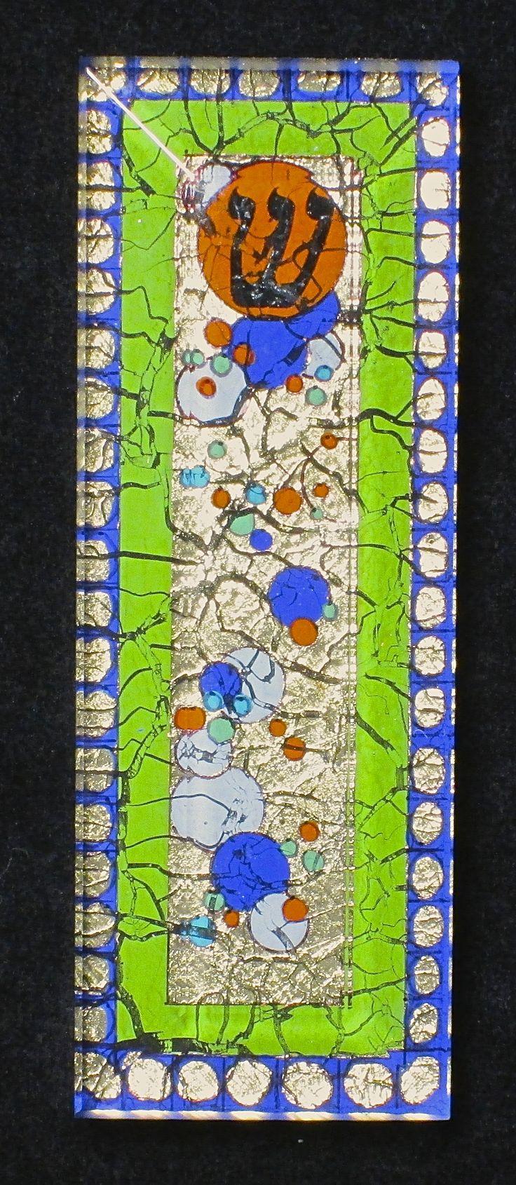 verre églomisé/reverse-painted glass