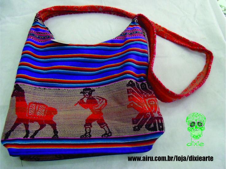 Bolsa Boliviana - R$ 39,00  www.airu.com.br/loja/dixiearte