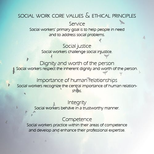 social work core values and ethical principles  words to