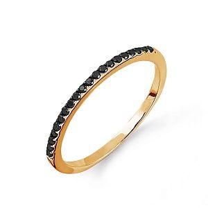 Кольцо из красного золота с черными бриллиантами