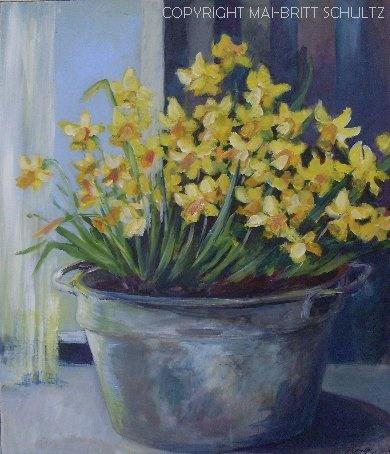 Painted in 2012 - 70 x 80 cm by Mai-Britt Schultz