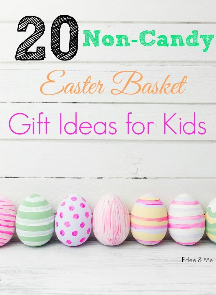 Avoid sugar overload this Easter by filling your kids' Easter Baskets with our top 20 Non-Candy Easter Basket Gift Ideas for Kids from Finlee and Me.