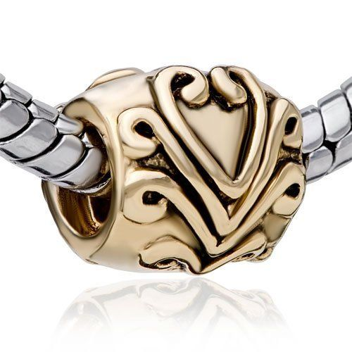 Pugster Bead Gold Victorian Heart European Charm Bead Fit Pandora Chamilia Biagi Charm Bracelet Pugster. $12.49. Money-back Satisfaction Guarantee. Free Jewerly Box. Unthreaded European story bracelet design. Pugster are adding new designs all the time. Fit Pandora, Biagi, and Chamilia Charm Bead Bracelets