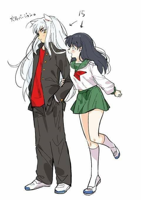 Omg Inuyasha Is So Cool And Cute Wearing Casual Modern Clothes