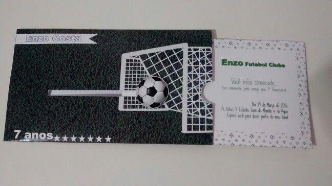 Convite festa de futebol