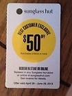 Sunglass Hut Coupon $50 off for purchases $200 or more - $200, COUPON, more, purchases, Sunglass