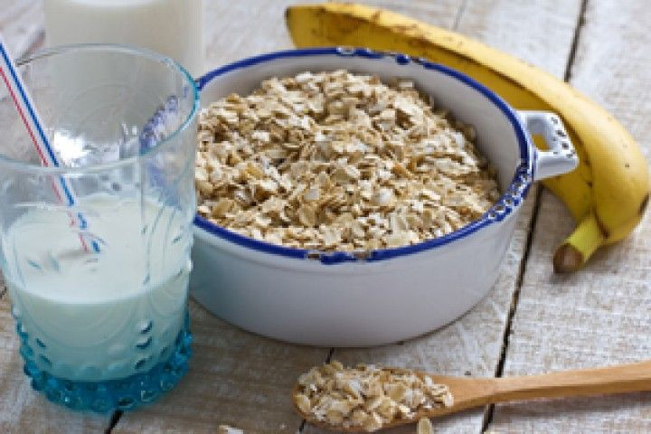 Dr. Fuhrman's Quick Banana-Oat Breakfast to go -- this is basically what John eats everyday for breakfast