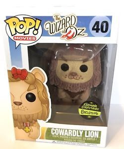 Funko Pop Movies The Wizard of Oz Cowardly Lion (Flocked)