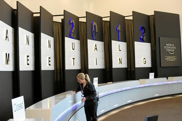 World Economic Forum 2013: Registration counter