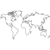 9 best maps images on pinterest world maps worldmap and arctic world map hd outline black world map outlines isolated on white abstract vector art gumiabroncs Gallery