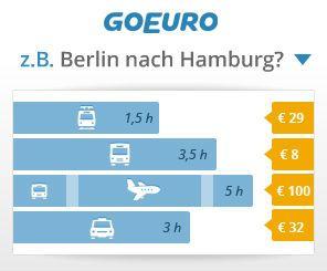 Mit GoEuro  www.goeuro.de haben Reisende eine weitere Möglichkeit Ihre Anreise ins schöne Allgäu zu planen.  Die Seite vergleicht übersichtlich und mit nur einer Suche alle Anreiseoptionen (Bahn-, Fernbus-, Flug-, sowie Eigenanreise) von A nach B. Um die beste, oder günstigste Verbindung zu finden, werden Verkehrsmittel sogar miteinander kombiniert und alle Preise mit eingerechnet. GoEuro vergleicht und kombiniert Reiseverbindungen ins Allgäu: www.allgaeu-abc.de/anreise-in-das-allgaeu/