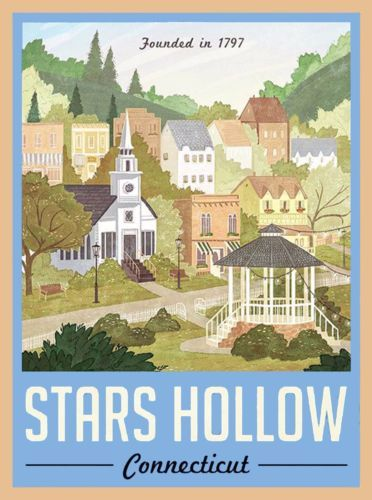 Gillmore-Girls-Stars-Hollow-Connecticut-America-Travel-Advertisement-Poster