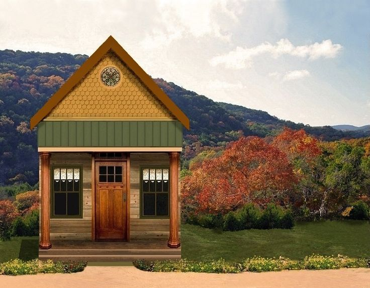 Texas tiny homes plan 448 is ideal as a weekend get a for Small weekend cabin plans