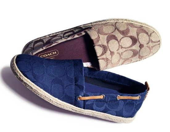 Spring Trend: Funky flats COACH #espadrilles #shoes BUY NOW!