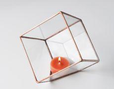 Terariu din sticla / cub pentru plante / obiect decorativ handmade