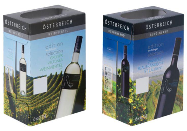 #Offsetkaschierte #Weinkartons • #Verkaufsverpackung für 6 Flaschen Rot- oder Weißwein. • 4-färbig #Offsetbedruckt. • #T4P, #Getränkeverpackungen