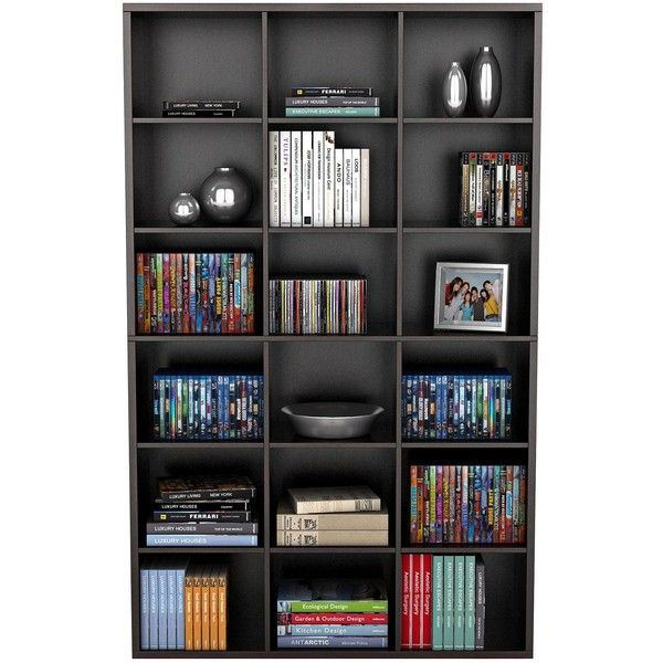 Captivating Atlantic Versa Espresso 18 Compartment Wall Storage Unit (345 CAD) ❤ Liked  On