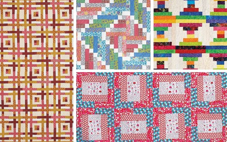 Free Quilt Patterns Using Jelly Roll Strips : 4 Free Strip Quilt Patterns That Standout from the Crowd Quilting patterns, Quilting and The o ...