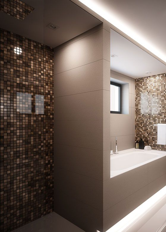 Bathroom design in Chorzów POLAND - archi group. Łazienka w domu jednorodzinnym.
