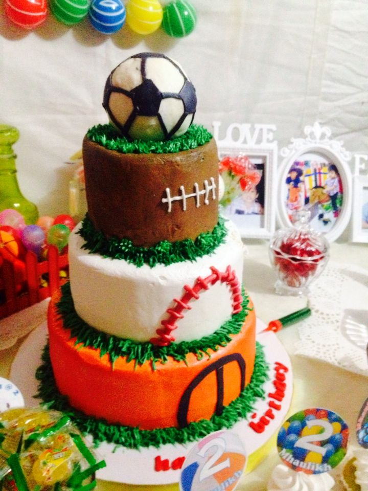 Balls,soccer balls, baseball, basketball party ideas