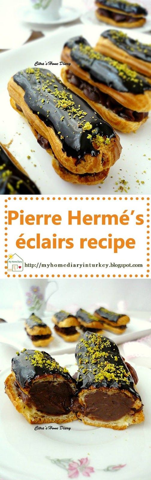 Pierre Hermé's éclairs recipe.