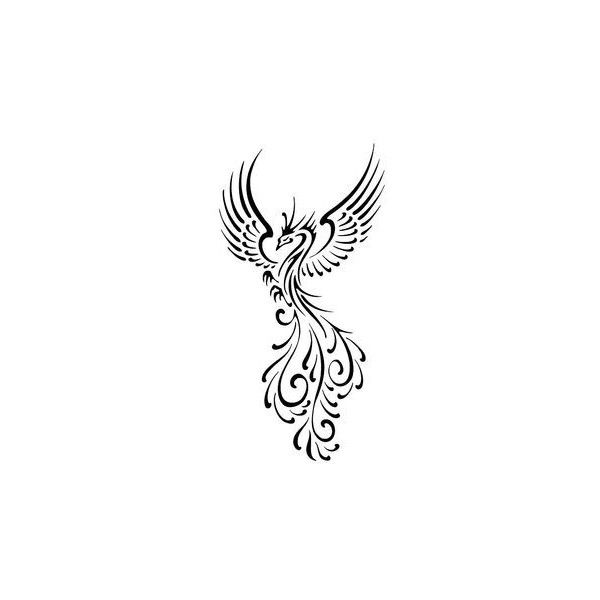 Small Phoenix Tattoos ❤ liked on Polyvore featuring accessories and body art