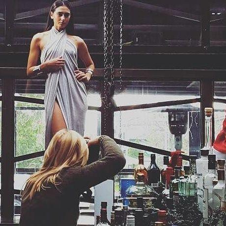 Backstage photoshooting, fashion, handmade jewelry, silver