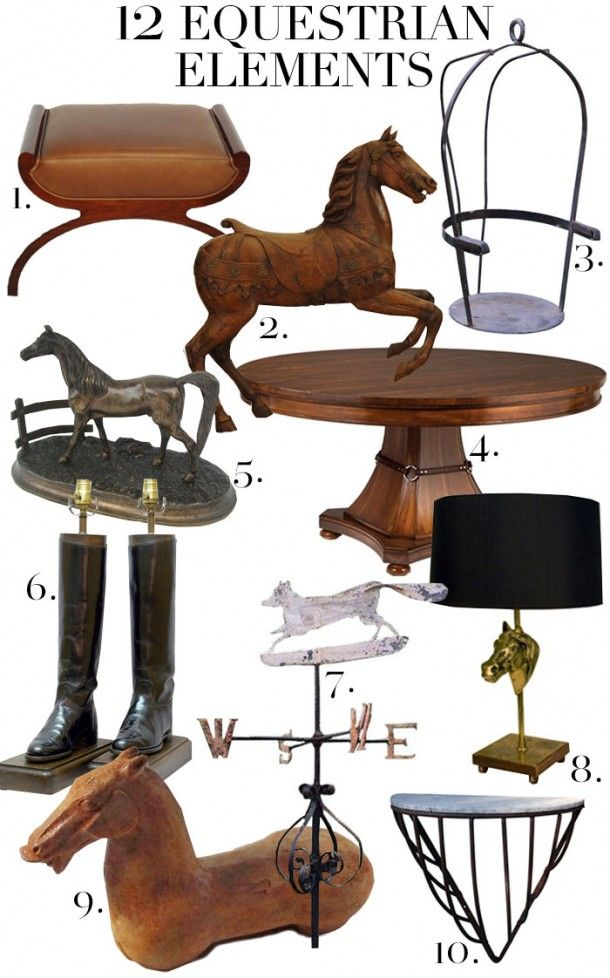 Equestrian interiors, love of the horse, style, equine, hunters and jumpers, art