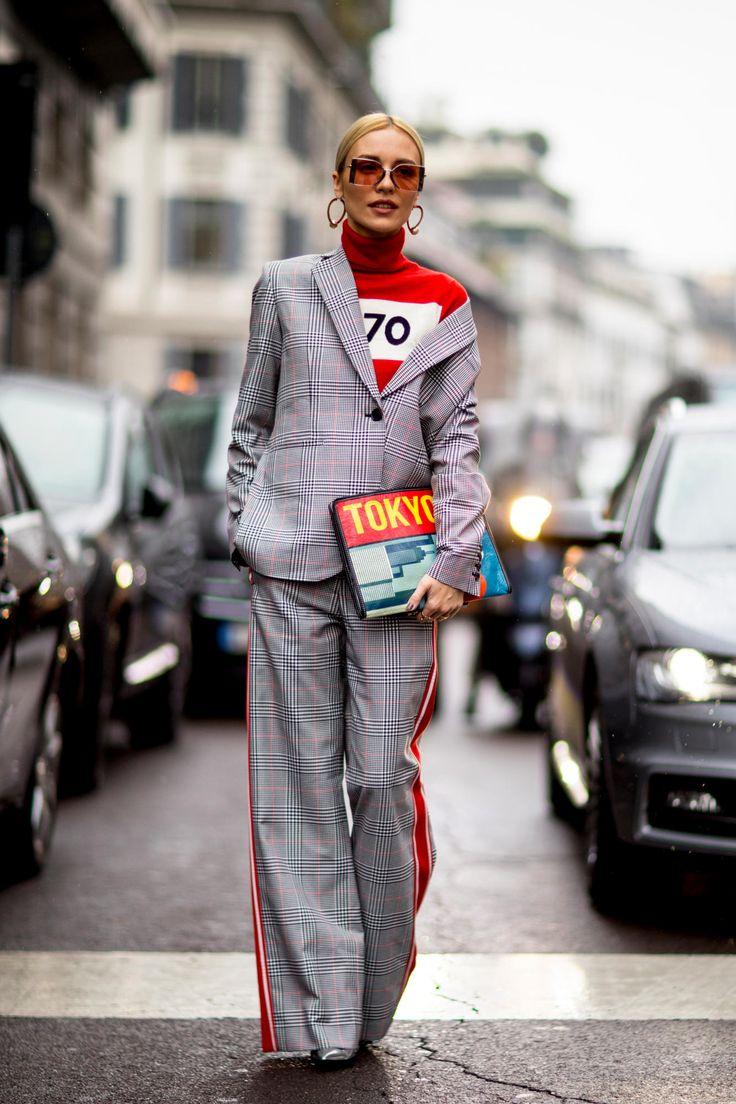 Уличный стиль Толпа носила все виды костюмов в День 2 Недели моды в Милане - Fashionista