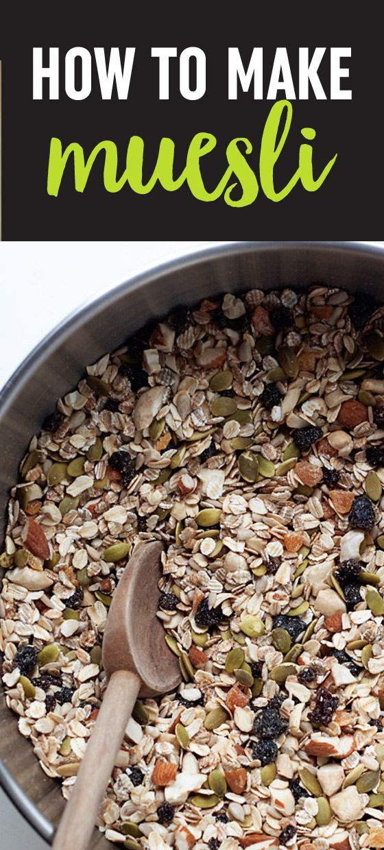 how to make granola from muesli