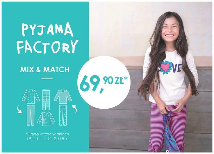 W dniach 19.10-01.11.2015 r. za piżamki z kolekcji MIX & MATCH, które możecie dowolnie komponować, zapłacicie jedyne 69,90 zł za komplet http://bit.ly/1MOnUrZ! :)