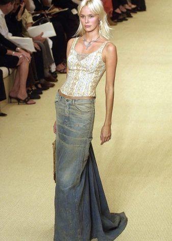 С чем носить длинную джинсовую юбку? | Модные стили ...
