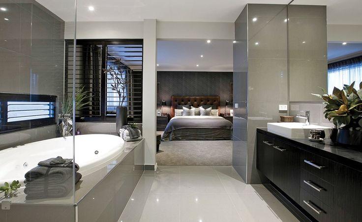 Esta pieza y baño me encantan, y el espacio queda justo y con un sobrante al costado para vestidor