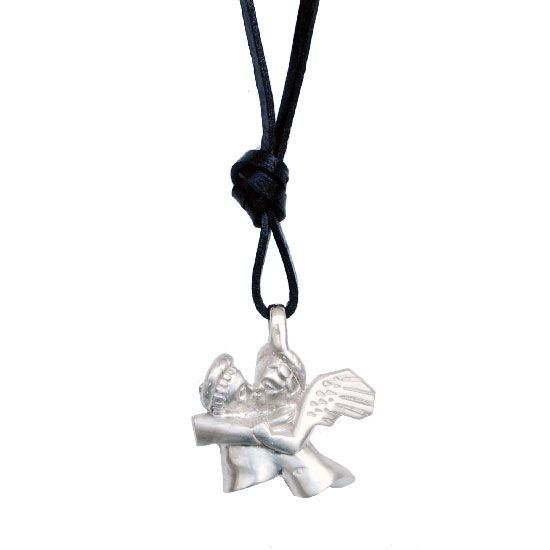 Cupid and Psyche, silver pendant