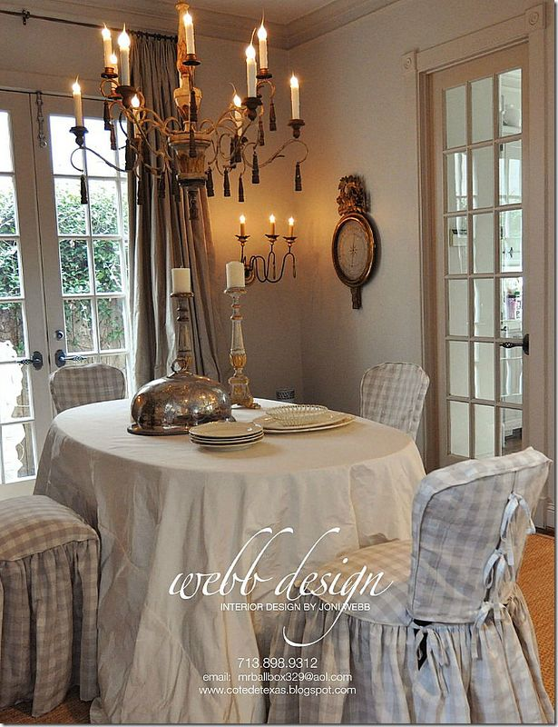 image: Dining Rooms, Decor Ideas, Riviera, Breakfast Nooks, Slipcovers, Interiors Design, Cote De Texas, House, Joni Webb