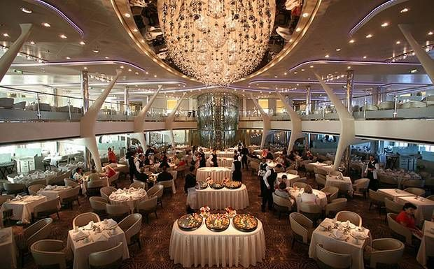 Celebrity Solstice's balconied dining room