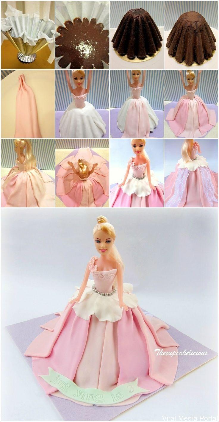 Best 25 barbie torte ideas on pinterest barbie kuchen - Barbie en princesse ...