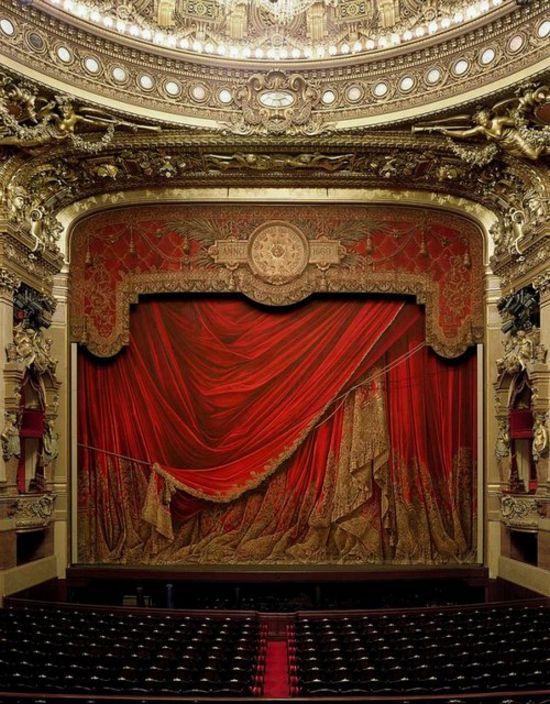 TheaterHome Theater, Garnier Opera, Red Mill,  Theatres Curtains, Paris France, Places, Theater Curtains, Opera House, Palais Garnier