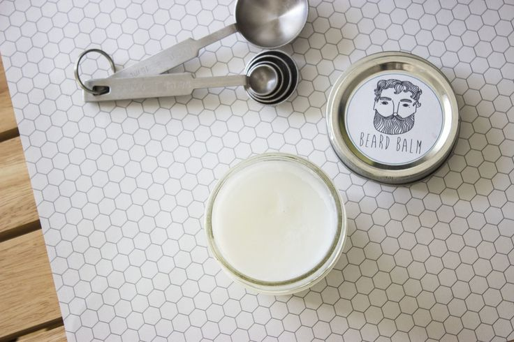 DIY Beard Balm  The weather is getting nippy and you know what that means! Cozy sweaters,  hot chocolate, and itchy beards. Yep, that blustery wind can make my  husband's beard dry and not so kissable. I've been making this really  simple beard balm to make his beard soft and manageable again.  It's so easy! You can get all the ingredients at your local grocery store.  You'll need:      * Cold-pressed coconut oil     * Almond oil     * Essential oil of choice     * Small glass jar or tin  If…