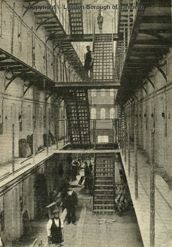 Brixton Prison Interior, Brixton Hill 1902 I used to work here! After this pic was taken!!