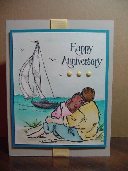 Couple by the Sea by Stamp Lady - Cards and Paper Crafts at Splitcoaststampers